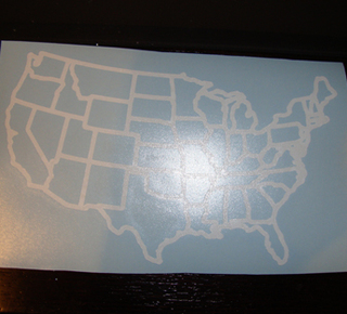 USA Nonreflective Silver Border