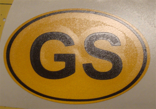 "Two 3"" Yellow Oval GS"